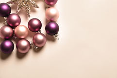 Christmas decoration with balls. A little christmas decoration with balls and a star Royalty Free Stock Images
