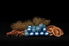 Christmas Decoration with Balls Royalty Free Stock Photo