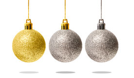 Christmas decoration balls with clipping path Stock Photography