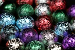 Christmas Decoration with Balls Royalty Free Stock Photos