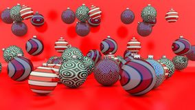 Christmas decoration balls of different colors Stock Photo