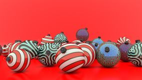 Christmas decoration balls of different colors Royalty Free Stock Photography