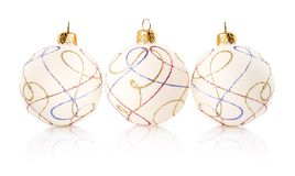 Christmas decoration balls isolated on white Royalty Free Stock Photography