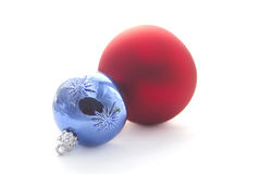 Christmas  decoration :  balls isolated on white Royalty Free Stock Photography