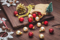 Christmas decoration with balls Stock Photography