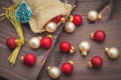 Christmas decoration with balls Stock Photo