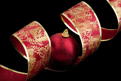 Christmas decoration balls with ribbon Stock Photo