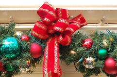 Christmas Decoration Balls and Ribbon Royalty Free Stock Photo
