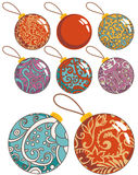 Christmas decoration balls set Royalty Free Stock Photography