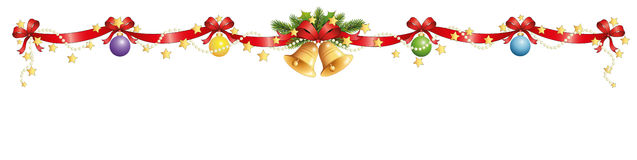 Christmas decoration banner Stock Images