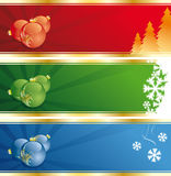 Christmas Decoration banners Royalty Free Stock Photos