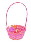 Christmas decoration basket isolated Royalty Free Stock Photo
