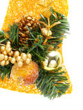 Christmas decoration with bauble, candied fruit Royalty Free Stock Photos