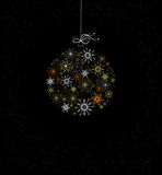 Christmas decoration with bauble Stock Photos