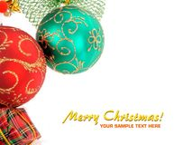 Christmas decoration baubles royalty free stock image