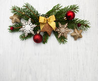 Christmas decoration baubles Royalty Free Stock Photo