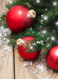 Christmas decoration baubles Stock Images