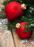 Christmas decoration baubles Stock Image