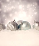 Christmas decoration baubles Stock Photography