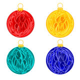 Christmas decoration baubles  vector Stock Image
