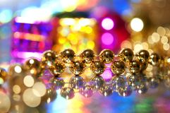 Christmas decoration beads Royalty Free Stock Photo