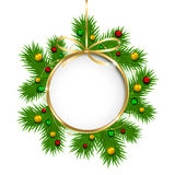 Christmas decoration with beads Royalty Free Stock Photo