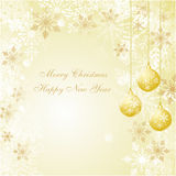 Christmas decoration with a beautiful background Royalty Free Stock Photos