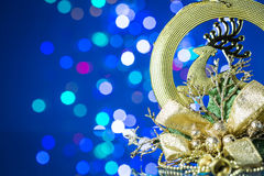 Christmas decoration and Beautiful Bokeh Stock Photography