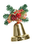 Christmas decoration with bell Royalty Free Stock Photo