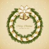 Christmas decoration with bells Stock Images