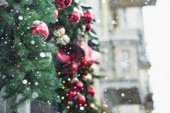 Christmas decoration with bells Stock Photo