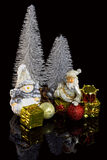 Christmas decoration on a black background Royalty Free Stock Photos