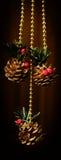Christmas decoration. On a black background Stock Image