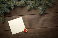 Christmas decoration. Blank scroll for text Royalty Free Stock Image