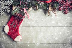 Christmas decoration with blank space Stock Images
