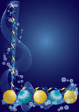 Christmas decoration blue. Merry Christmas and Happy New Year! illustration Stock Photos