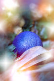 Christmas decoration - blue bauble ( xmas ball) Stock Images