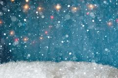 Christmas decoration in blue stock image