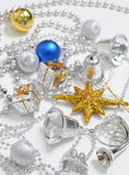 Christmas decoration blue and silver Stock Image