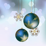 Christmas decoration in blue - Vector illustration Stock Photography