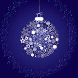 Christmas decoration blue2. Merry Christmas and Happy New Year! illustration Stock Photo