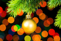Christmas decoration and blurred lights Royalty Free Stock Photography