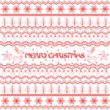 Christmas Decoration Boarder Stock Photos
