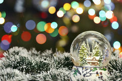 Christmas Decoration On Bokeh Background. For Your Christmas Card Or Poster Royalty Free Stock Photography