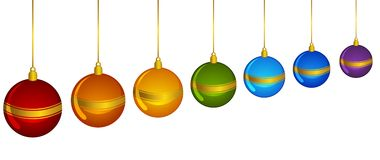 Christmas decoration with bolls Royalty Free Stock Photo