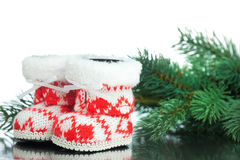 Christmas decoration boot Royalty Free Stock Image