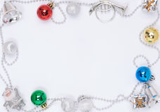 Christmas decoration border. With copy space Royalty Free Stock Photos