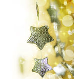 Christmas decoration border Stock Image