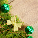 Christmas decoration border Stock Photo