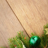 Christmas decoration border Royalty Free Stock Photos